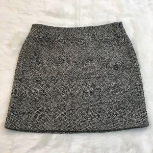 Banana Republic Gray Tweed Wool Blend Mini Skirt